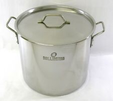 40 QT Quart 10 Gal Stainless Steel Stock Pot Steamer Brew Kettle w/lid BA76-40