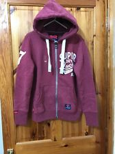 SUPERDRY Lucky Women's Zip Soft Fleece HOODIE UK Size L BRAND New Without Tags