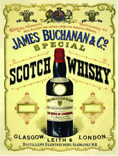 James Buchanan,Scotch Whisky,Pub,Barrette & Ristorante,Medio Metallo/Tin Firmare