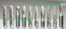 10 PCS Solid Tungsten Carbide Cutter Bit Burr Burs Drills 3mm Dia. Rotary Dremel