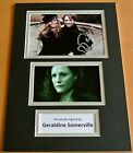 GERALDINE SOMERVILLE HAND SIGNED AUTOGRAPH A4 PHOTO DISPLAY HARRY POTTER & COA