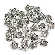 30X Metal Colgantes Charms Dijes Forma Huella de Perro para DIY Collar Pulsera