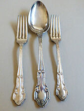 Antique VTG 3 pc lot GM CO (Gorham) EP Pat 1917 2 Forks & Spoon Serving Piece