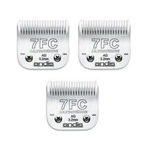 3 PACK OF ANDIS 7FC CLIPPER BLADES 3.2mm, 1/8""