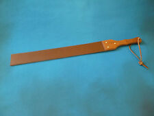 "NEW Heavy Leather Strap wood handle 8mm thick 64mm x 690mm (2½""x27"") (cane)"