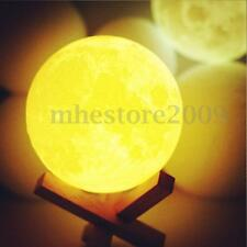 3D Printing Moonlight Lamp Night Light Glow Table Desk Healing Moon Decor Gift