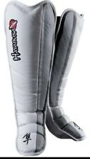 Hayabusa Tokushu Grappling Shinguards, Mma, White/Grey, X-Large