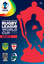 * 2013 RUGBY LEAGUE WORLD CUP GROUP A MATCHES OFFICIAL PROGRAMME *