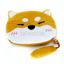 Shiba Dog Coin Bag Brown Case Purse Cartoon Wallet Holder Toy Puppy Japan Gift