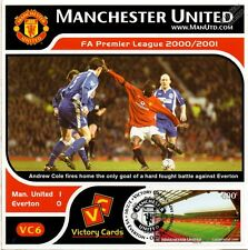 MAN U 2000-01 Everton (Andy Cole) Football Stamp Victory Card #6