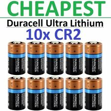 10 x CR2 Duracell 3V Ultra Lithium Batteries ( DLCR2, CR17355, ELCR2 ) 2026 EXP