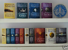 "FULL SET 7 x DOLLS HOUSE MINIATURE ""GAME of THRONES"" BOOKS Handmade 1:12th Scale"