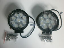 LED Work Lights Pair 27W 12V & 24V Off Road, Work Light, Reversing 1620 Lumens