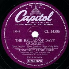 """TENNESSEE ERNIE FORD 78 """" THE BALLAD OF DAVY CROCKETT """" CAPITOL CL 14506 EX/EX+"""