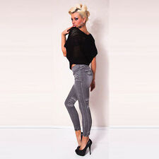 NEW WOMEN/LADIES FASHION SKINNY DENIM LEGGINGS JEANS JEGGINGS 6 8 12 UK SELLER