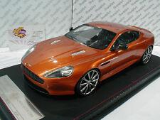 FrontiArt F026-48 # Aston Martin DB 9 Baujahr 2013 champagne orangemetallic 1:18
