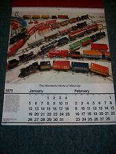 TINPLATE TRAINS CALENDAR - 1975 - IRON HORSE PRODUCTIONS