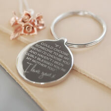 Mum Wedding Keyring With Gift Box, Mother Of The Bride Gift