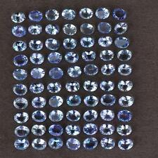 A PAIR OF RARE 5x4mm OVAL-FACET PURPLE/BLUE NATURAL TANZANITE GEMSTONES £1 NR!