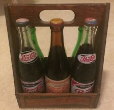 Pepsi Cola Vintage Collection of Bottles and Pepsi crate