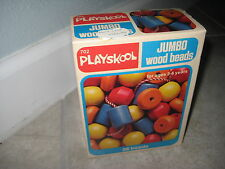 Vintage PLAYSKOOL 702 1978 Giant Wood Bead Toy Child Baby Toy Set NEW IN BOX
