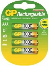 4x GP AAA 1000 MICRO PROFESSIONAL BATTERY SERIES NiMH NEW TECHNOLOGY OVP NEW