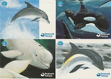 Faroe Islands 1998 Whales & Dolphins, Official Issue postcards, mint unused