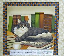 Country Patchwork Quilting Fabric – Cats 4 – Sewing Cotton Panel 45 x 45cm New