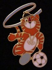 Soccer Olympic Pin Badge~1988~Mascot: Hodori~NEW! Still in 25 yr old packaging!!