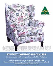 Brand New - AUS MADE Queen (Malmsbury) Wing/Occasional Chair Sofa Lounge