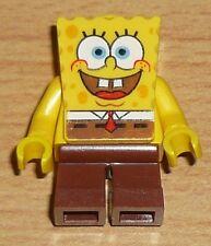 Lego Sponge Bob Figur mit lachendem Gesicht (breiter Mund)