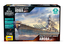 ZVEZDA 9201 WORLD OF WARSHIPS U.S.S. BATTLESHIP IOWA MODEL KIT 1/1200 NEW