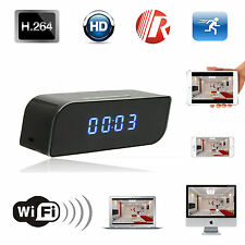 Mini Wireless Network Wifi IP HD 720P Clock Camera Spy Hidden IR Security Cam