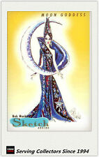 1997 Tempo World Of Barbie Cards Bob Mackie Sketch Card SK3 Moon Goddess