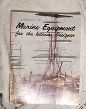 Marine Equipment for the interior designer 1977 Bigset Brown restaurant Prices
