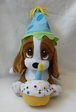 Sad Sam Happy First Birthday  Candle  Cake Plush Stuffed  Dog Puppy Applause