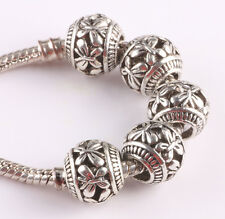 free 10pcs retro Tibetan silver spacer beads fit Charm European Bracelet AS418