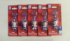 5 x England World Cup Mobile Phone Charms/Danglies Past & Present Players - NEW