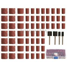 104Pcs Sanding Bands 60 120 320 Grits Sleeves Drums w/4 Mandrels For Dremel Tool