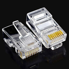 Fashion Lot 10pcs RJ45 Cat5 Cat5e Modular Plug Network Lan Ethernet Connector