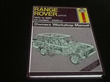 Range Rover Petrol Haynes Owners Workshop Manual 1970 - 1987 all models 3528 cc