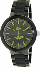 Lacoste 2010768 Borneo Black Dial Black Stainless Steel Men's Watch