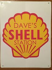 Tin Sign Vintage Custom Shell Gas Station Motor Oil (Your Name)
