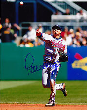 RAMIRO PENA  ATLANTA BRAVES    ACTION SIGNED 8x10