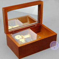 "Play ""Once Upon a December"" Wooden Wind up Sankyo Music Box With a Jewelry Box"