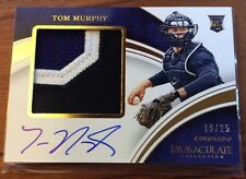 Tom Murphy• /25 3 Color Jumbo Patch/Auto RC• 2016 Panini Immaculate SP Autograph