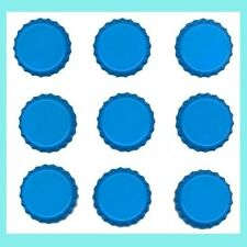 Set of 50 TURQUOISE POOL Blank Single Sided Colored BOTTLE CAPS Crowns Unused