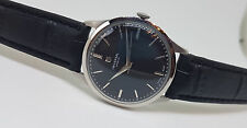 RARE USED VINTAGE UNIVERSAL GENEVE BLACK DIAL MANUAL WIND MAN'S WATCH