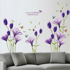 Removable Flower Wall Sticker Vinyl Mural Decals Home Art Living Room Decor