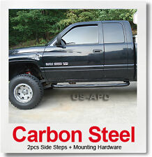 FOR 98-01 Ram 1500/98-02 2500/3500 Quad Cab Black Nerf Bars